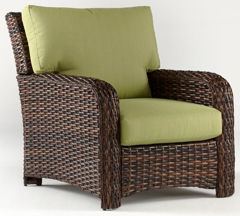 Saint Tropez Chair with Luxterior Cushion by South Sea Rattan & Wicker at Johnny Janosik