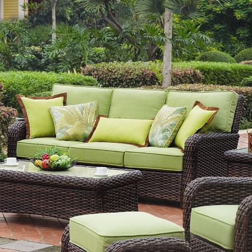 St Tropez Sofa by South Sea Rattan & Wicker at Lindy's Furniture Company