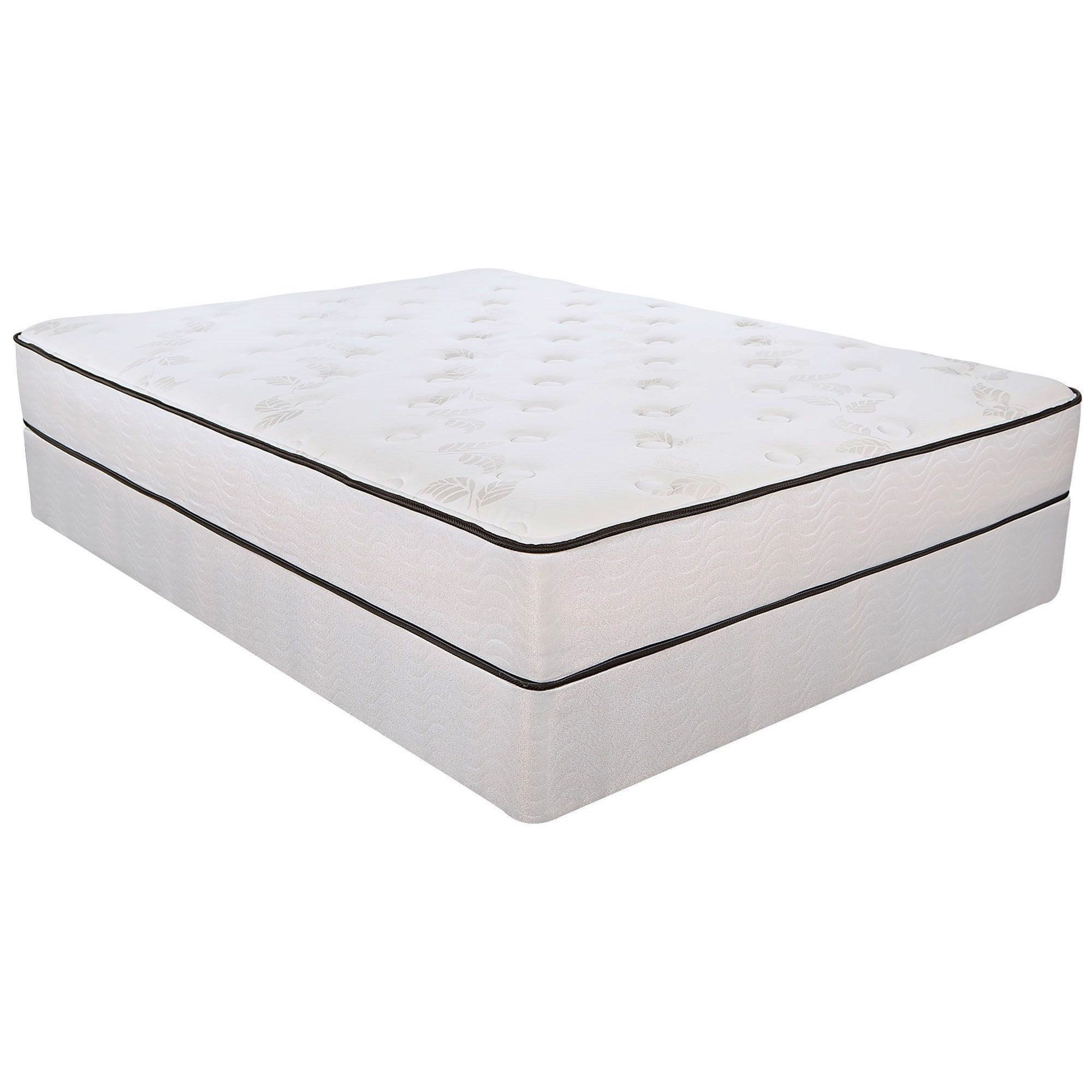 "5500 Plush Full 10.9"" Innerspring Mattress Set by Southerland Bedding Co. at Wilcox Furniture"