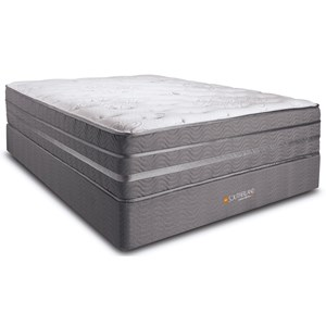 "Full 13"" Euro Top Pocketed Coil Mattress and Southerland House Foundation"