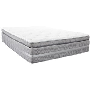 "Twin 14 3/4"" Super Pillow Top Pocketed Coil Mattress"