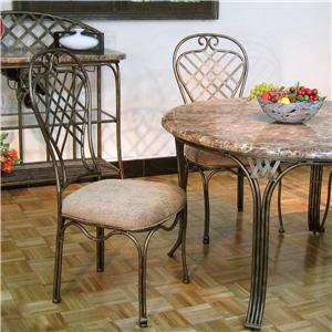 Southern Enterprises Allegra Upholstered Metal Side Chair