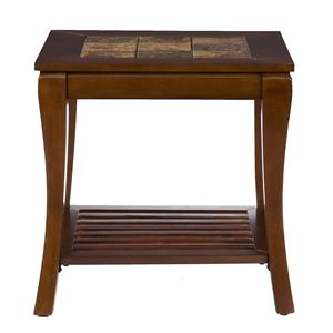 Southern Enterprises Cambria Cambria Brown Cherry Slate End Table