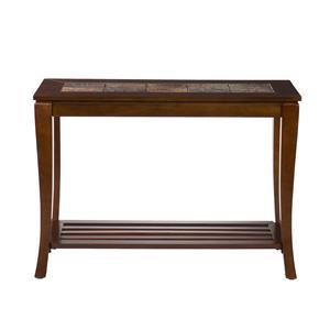 Southern Enterprises Cambria Cambria Brown Cherry Slate Sofa Table
