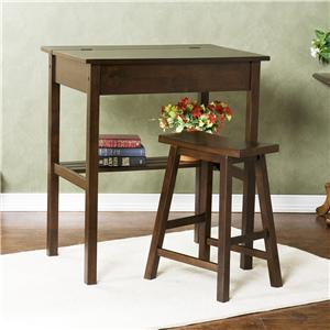 Southern Enterprises Desks and Chairs McKinley Espresso Study Set