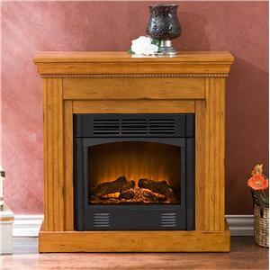 Southern Enterprises Fireplaces  Walden Plantation Oak Electric Fireplace