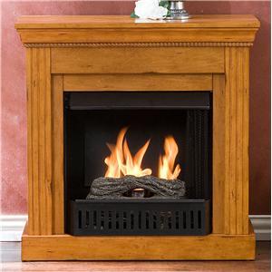 Southern Enterprises Fireplaces  Walden Plantation Oak Gel Fuel Fireplace