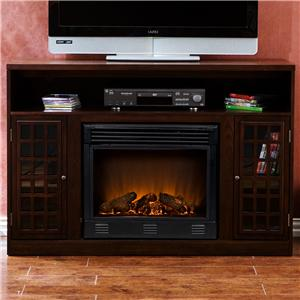 Southern Enterprises Fireplaces  Console W/Electric Fireplace