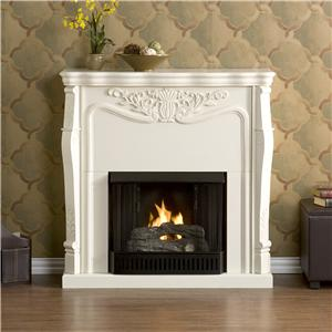 Southern Enterprises Fireplaces  Raphael Fireplace with Gel Fuel