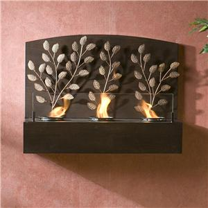 Southern Enterprises Fireplaces  Wine Wall Fireplace with Gel Fuel