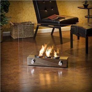 Southern Enterprises Fireplaces  Loft Portable Fireplace with Gel Fuel