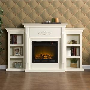 Southern Enterprises Fireplaces  Tennyson Ivory Electric Fireplace