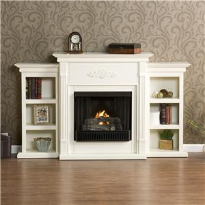 Southern Enterprises Fireplaces  Tennyson Ivory Gel Fuel Fireplace