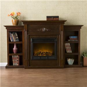 Southern Enterprises Fireplaces  Tennyson Espresso Electric Fireplace