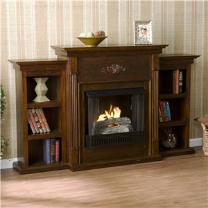 Southern Enterprises Fireplaces  Tennyson Espresso Gel Fuel Fireplace