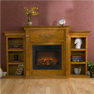 Southern Enterprises Fireplaces  Tennyson Oak Electric Fireplace
