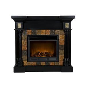 Southern Enterprises Fireplaces  Convertible Black Electric Fireplace