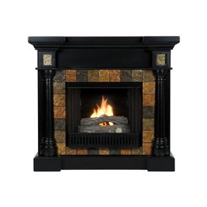 Southern Enterprises Fireplaces  Convertible Black Gel Fuel Fireplace