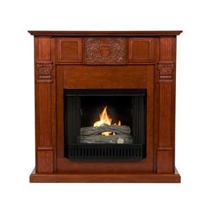 Southern Enterprises Fireplaces  LaSalle Carved Mahogany Fireplace
