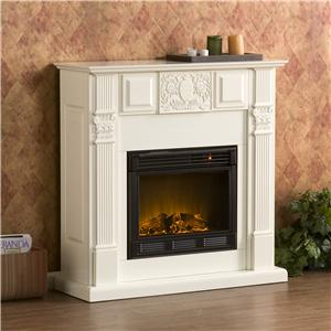 Southern Enterprises Fireplaces  LaSalle Carved Ivory Fireplace