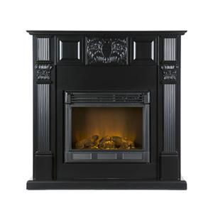 Southern Enterprises Fireplaces  LaSalle Carved Black Fireplace