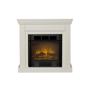 Southern Enterprises Fireplaces  Walden Ivory Fireplace
