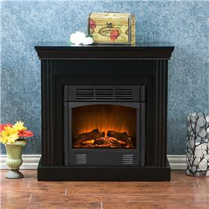 Southern Enterprises Fireplaces  Walden Black Electric Fireplace