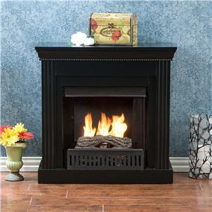 Southern Enterprises Fireplaces  Walden Black Gel Fuel Fireplace