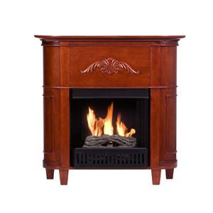 Southern Enterprises Fireplaces  Mayfair Classic Mahogany Petite Fireplace