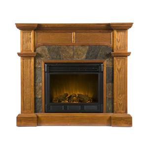 Southern Enterprises Fireplaces  Cartwright Convertible Electric Fireplace