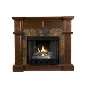 Southern Enterprises Fireplaces  Cartwright Convertible Gel Fuel Fireplace