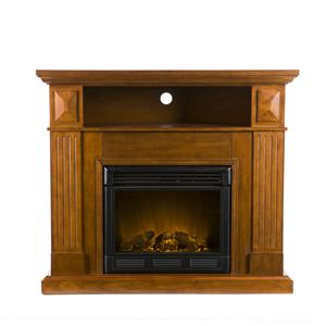 Southern Enterprises Fireplaces  Graham Media Console w/ Electric Fireplace