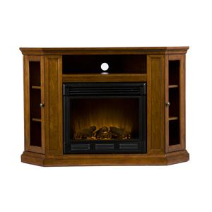 Southern Enterprises Fireplaces  Claremont Media Console w/Electric Fireplace