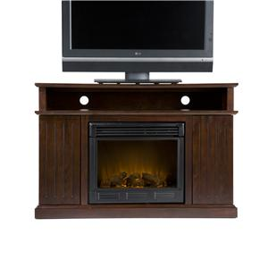 Southern Enterprises Fireplaces  Kingsbury Media Console w/Electric Fireplace