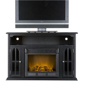 Southern Enterprises Fireplaces  Tillman Media Console w/Electric Fireplace