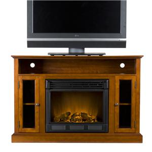 Southern Enterprises Fireplaces  Denton Media Console w/Electric Fireplace