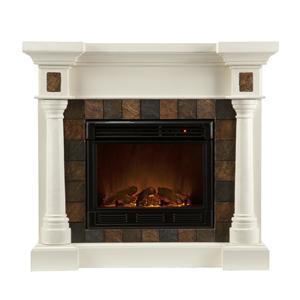 Southern Enterprises Fireplaces  Carrington Convertible Electric Fireplace