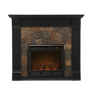 Southern Enterprises Fireplaces  Elkmont Black Electric Fireplace