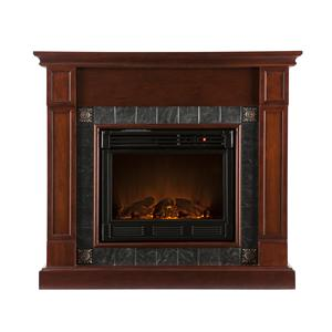 Southern Enterprises Fireplaces  Lungarno Cherry Electric Fireplace