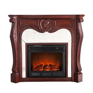 Southern Enterprises Fireplaces  Belmont Cherry Electric Fireplace