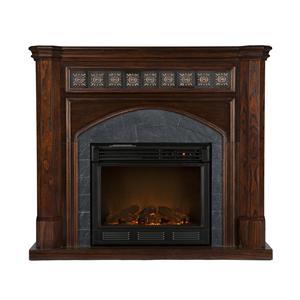Southern Enterprises Fireplaces  Lake Austin Espresso Electric Fireplace