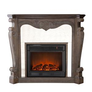 Southern Enterprises Fireplaces  Arturo Burnt Oak Electric Fireplace