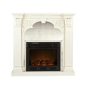 Southern Enterprises Fireplaces  Luxembourg Ivory Fireplace
