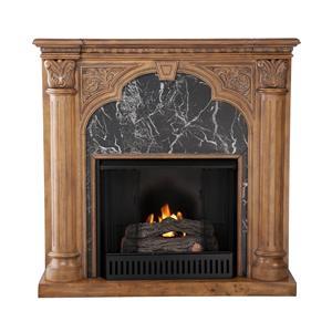 Southern Enterprises Fireplaces  Savino Old World Oak Gel Fireplace