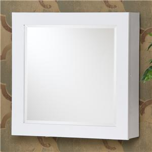 Southern Enterprises Jewelry Armoires White Square Wall Mount Jewelry Armoire