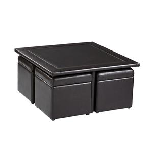 Southern Enterprises Occasional Tables Nylo Storage Cube Cocktail Table Set