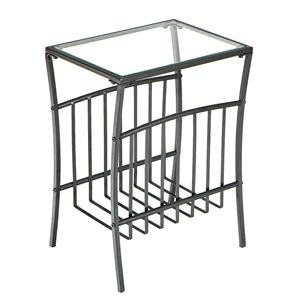Southern Enterprises Occasional Tables Metal Magazine Table
