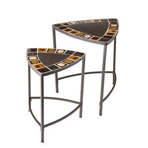 Southern Enterprises Occasional Tables 2 Piece Mosaic Table Set