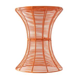 Southern Enterprises Occasional Tables Orange Round Metal Accent Table