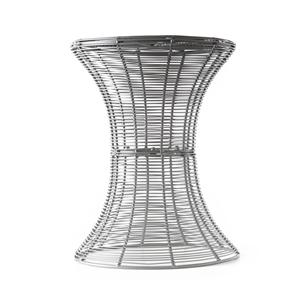 Southern Enterprises Occasional Tables Silver Round Metal Accent Table